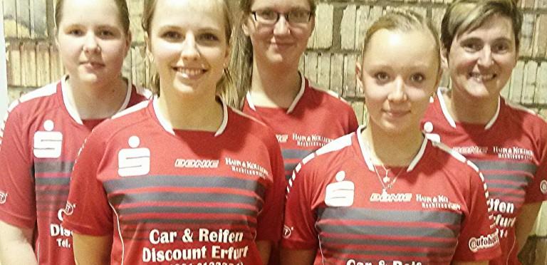 Oberliga-Damen des  TTZ Sponeta Erfurt beenden Hinrunde