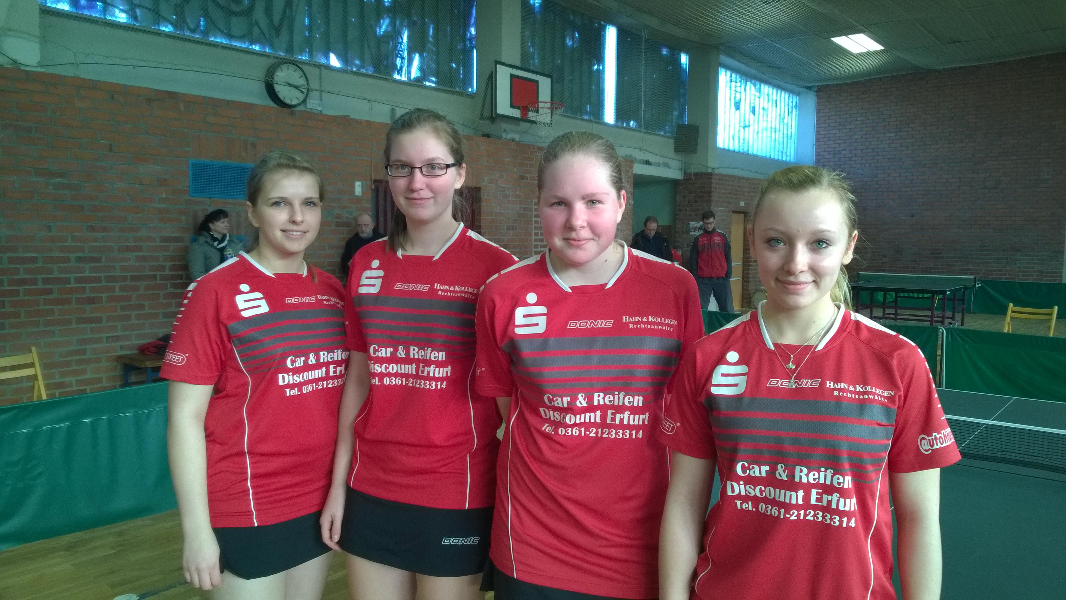 Oberliga-Damen in heimischer Halle gegen TTC Börde Magdeburg und ...